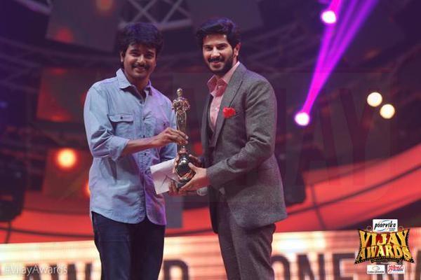 Sivakarthikeyan Presenting Award to Dulquer Salmaan