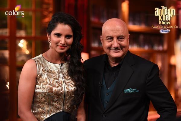 Sania Mirza with Anupam Kher