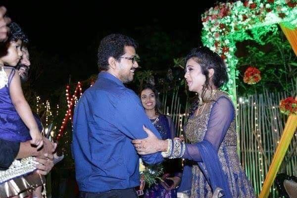 Vijay at Chandran-VJ Anjana's Wedding Reception