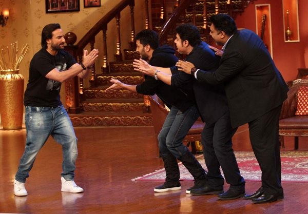 Promotion of 'Humshakals' on the sets of TV popular Show 'Comedy Night With Kapil'