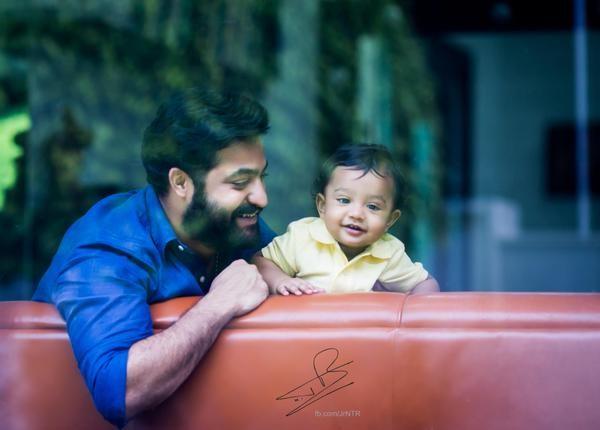 Jr NTR with son Abhay Ram