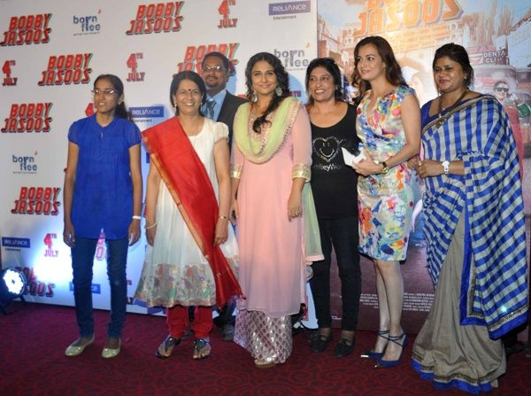 The trailer launch of  film 'Bobby Jasoos' at PVR Juhu, Mumbai