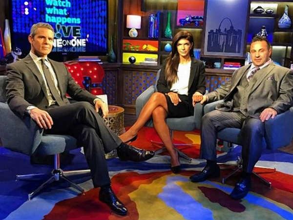 Teresa Giudice And Joe With Andy Cohen