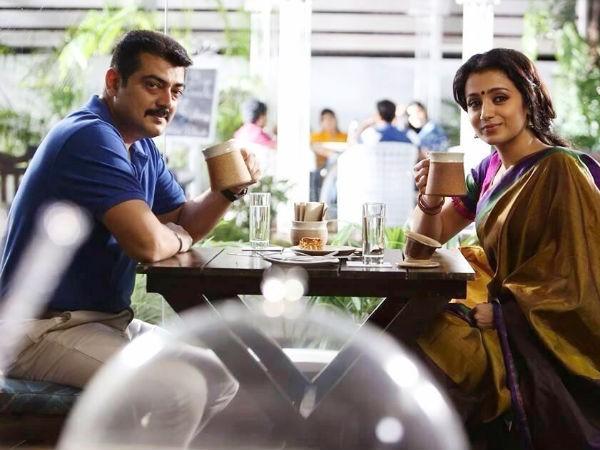 Ajith Kumar with Trisha in 'Thala 55'