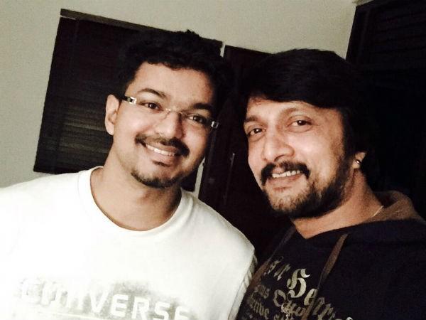 Vijay with Sudeep