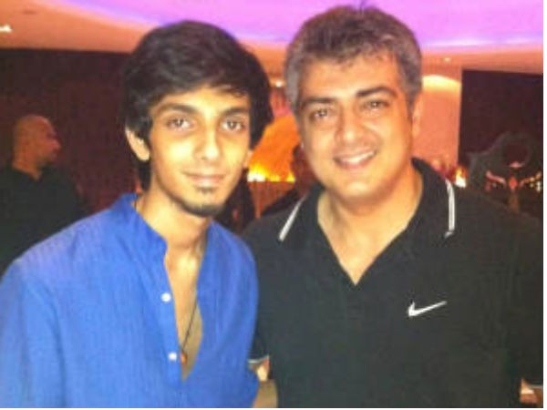 Anirudh with Ajith