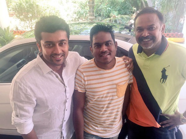 Yuvan with Surya and Venkat Prabhu