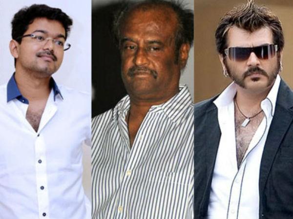 Vijay, Rajinikanth, Ajith