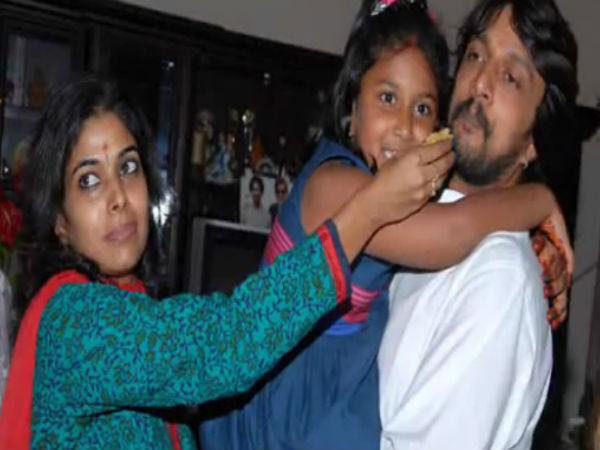 Sudeep, Priya with their Daughter Saanvi