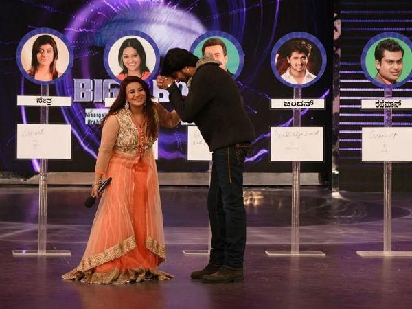 Pooja Gandhi with Sudeep