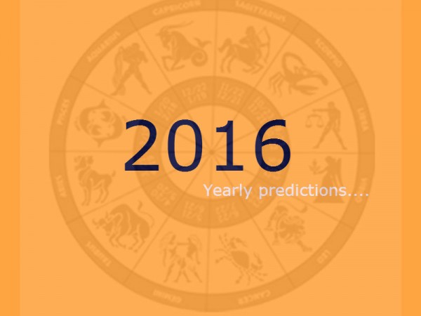 2016 Yearly Predictions