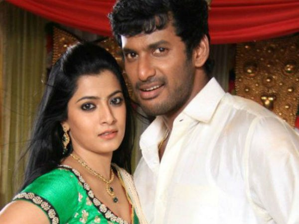 Vishal with Varalaxmi