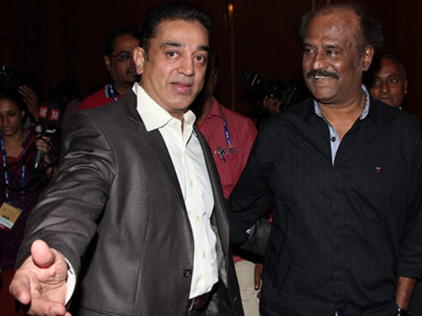 Kamal Haasan with Rajinikanth
