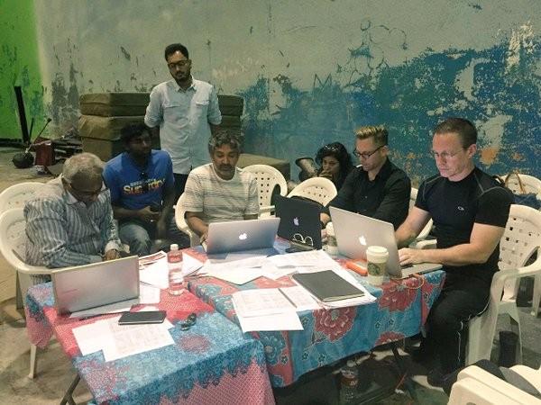 SS Rajamouli team on