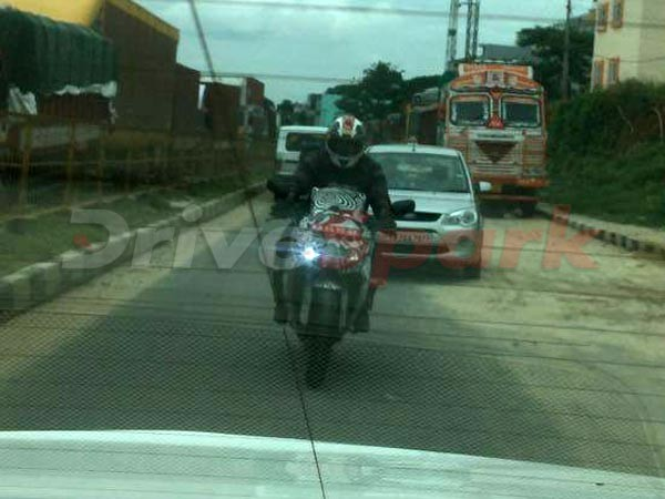TVS Akula 310 spied testing for the first time