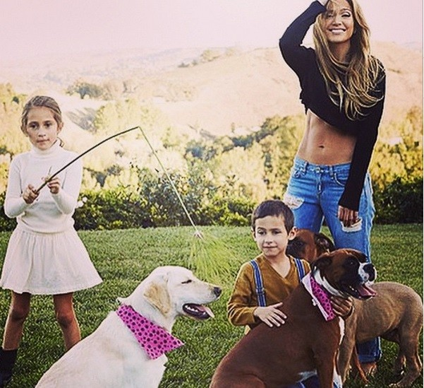 JLo with her kids Emme Maribel Muñiz, Maximilian David Muñiz