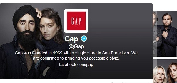 GAP Twitter changes background image in support to its Sikh model Waris Ahluwalia