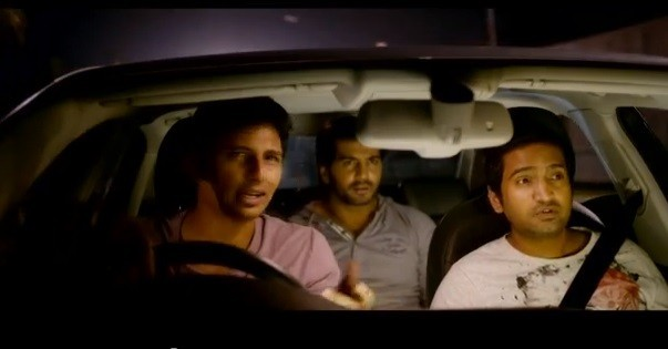 "YouTube screenshot from the official trailer of ""Endrendrum Punnagai"""