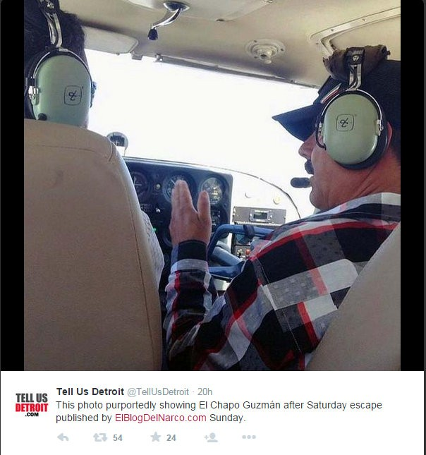 An image on Twitter shows him flying a helicopter.