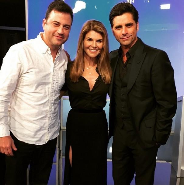 Lori Loughlin and John Stamos on Jimmy Kimmel Live
