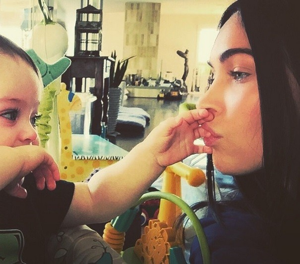 Megan Fox with her son