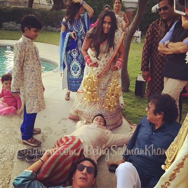 Salma Khan's Relaxing Moment at Falaknuma Palace