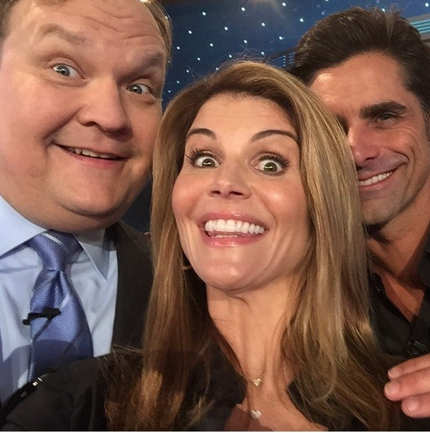 Lori Loughlin and John Stamos with Andy Richter