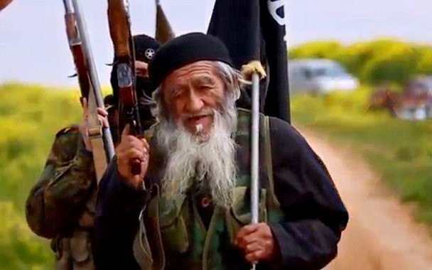 An 80-year old Chinese man from Xinjiang has joined Isis in Syria.