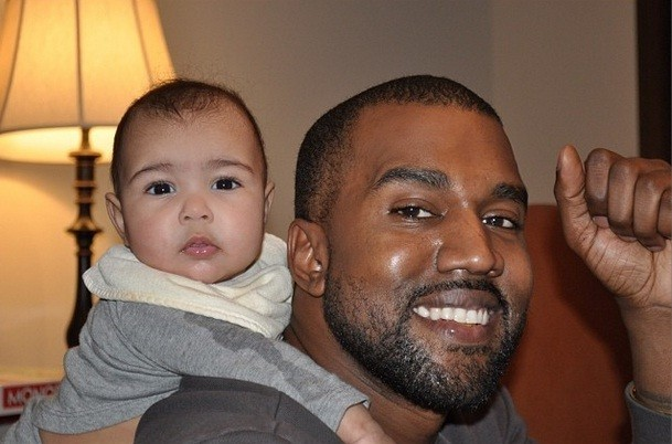 Singer Kanye West with daughter North/Instagram