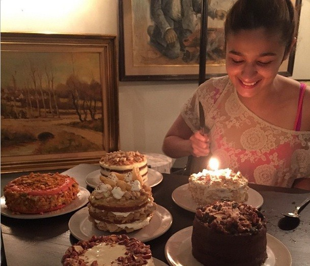 Alia Bhatt Cuts Six Cakes On Her 22nd Birthday