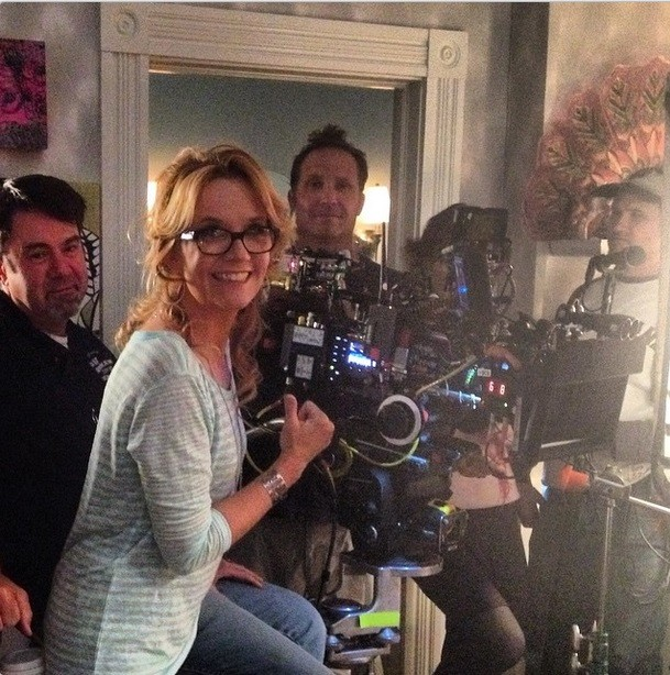 Lea Thompson in 'Switched at Birth' set