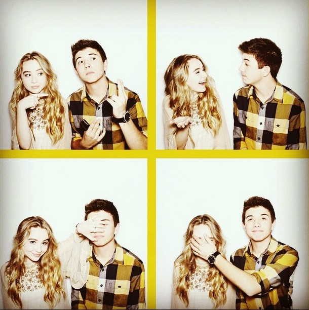 Image: Sabrina Carpenter and Bradley Steven Perry