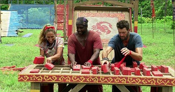 Carolyn Will and Mike playing Survivor
