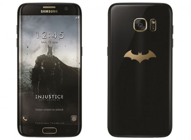 Samsung DC Comics unveil Batman inspired Galaxy S7 edge Injustice edition