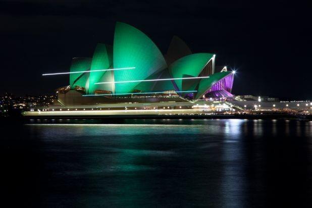 Earth hour - Sydney Opera House