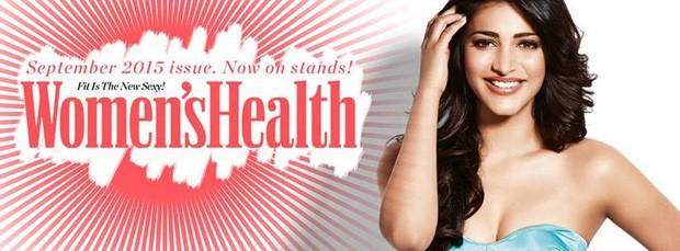 Shruti Haasan,Shruti Haasan photoshoot for Women's Health Magazine,Shruti Haasan photoshoot,Actress Shruti Haasan,Women's Health Magazine,Women's Health Magazine sep 2015,actress Shruti Haasan,Shruti Haasan latest pics,Shruti Haasan latest