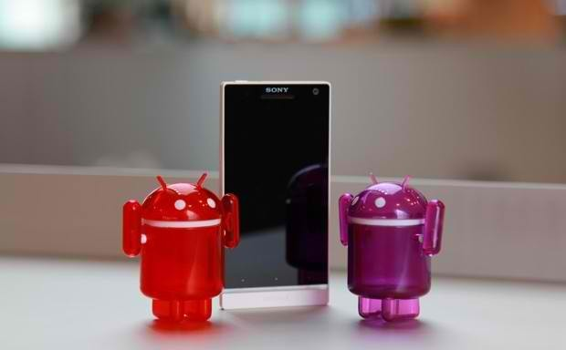 Sony Xperia smartphone with Android Jelly Bean