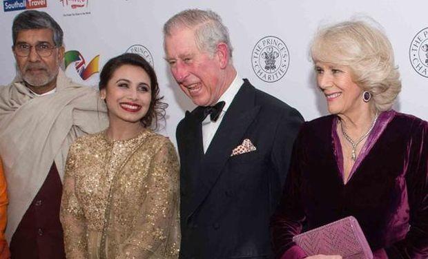 Rani Mukherjee with Prince William and Camila Parker