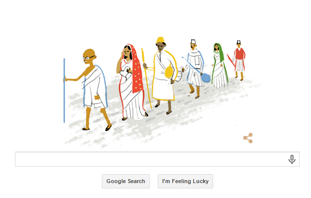 69th Independence Day Celebrations: Google Doodle depicts Dandi March