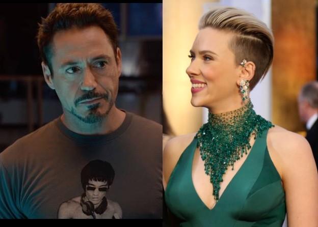 Robert Downey Jr and Scarlett Johansson