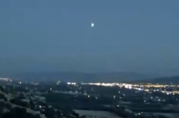 UFO Sighting: Live Cam Captures Huge Glowing Object Over California [You Tube Screenshot/Orlando Bosca]