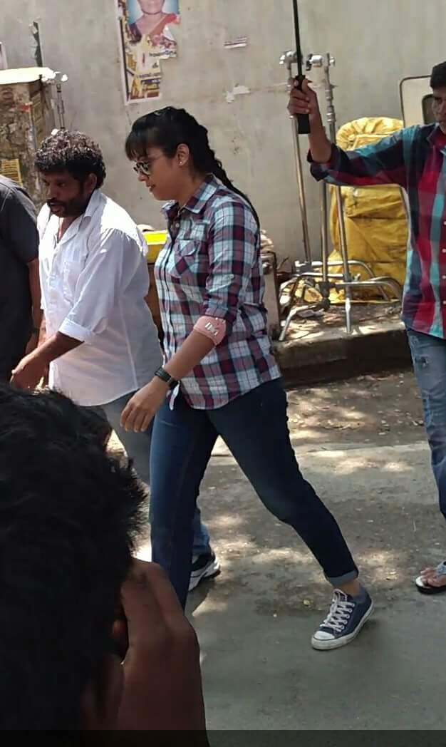Jyothika,Jyothika at Movie Shooting Spot,Jyothika at Shooting Spot,Jyothika at new movie Shooting Spot,Jyothika new movie,Jyothika pics,Jyothika images,Jyothika stills,Jyothika pictures,Jyothika at director Bramma' new movie sets