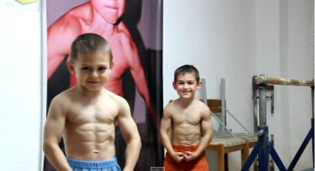 Bodybuilder brothers Giuliano and Claudio