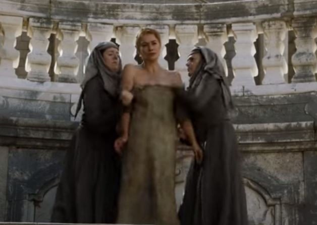 Cersei being stripped before her atonement