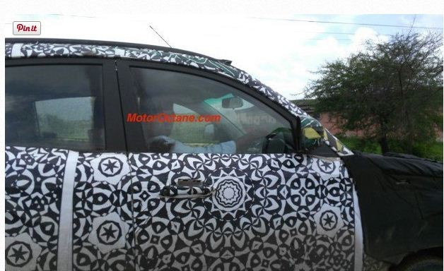 Mahindra S101 (CUV100) Spotted in Yellow