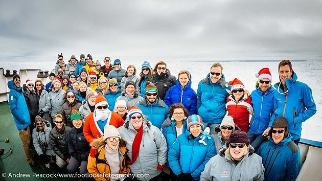 Passengers Stuck onboard Russian Ship in Antartica Celebrated Christmas