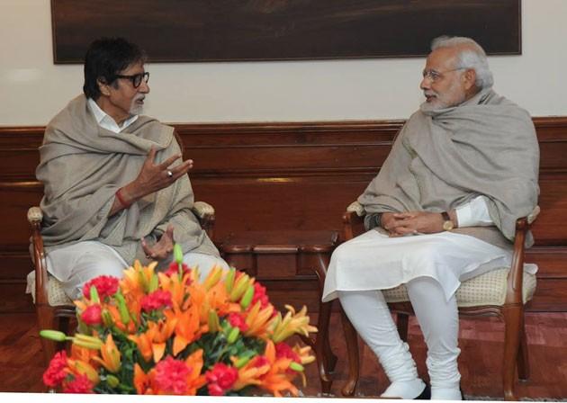 Amitabh Bachchan meets Narendra Modi