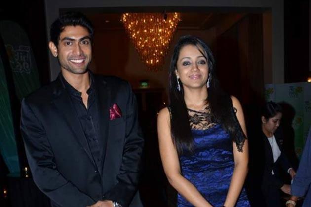Rana Daggubati with Trisha