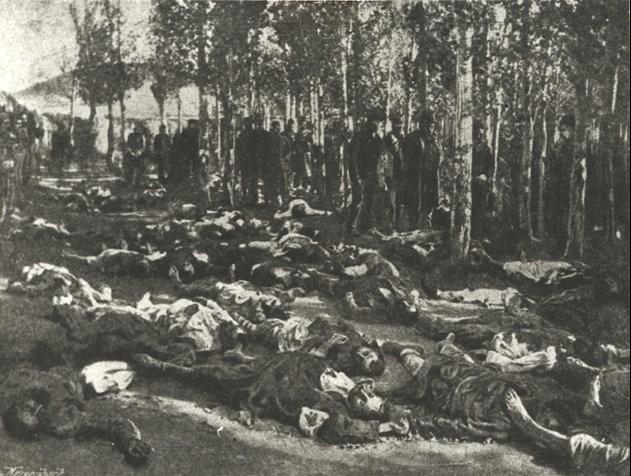 Corpses of massacred Armenians in Erzurum in 1895