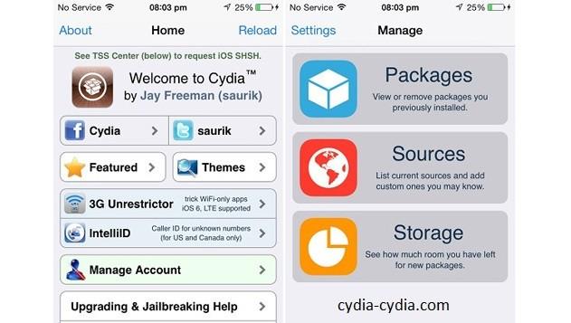 Cydia Repo page for iOS 8.3